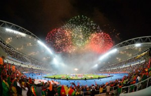 Closing Ceremony during the 2017 Africa Cup of Nations Finals Afcon Final match between Egypt and Cameroon at the Libreville in Gabon on 5 February 2017 ©Samuel Shivambu/BackpagePix