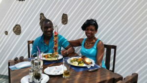 Ade and Isabella in Club Nautico, Mindelo