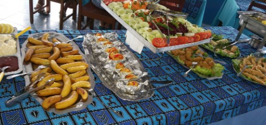 Selection of food from Chez Loutcha, Calhou
