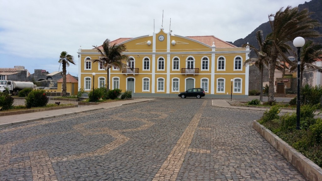 The Town Hall at Ponta Do Sol, Santo Antao – the road leads straight down to the seafront – built circa 1895)