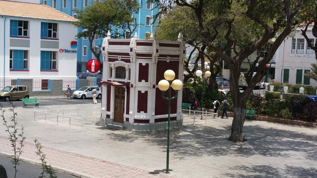 Possibly, the world's smallest bar/restaurant? In Praca Nova Mindelo