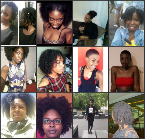 Black women embracing their natural hair