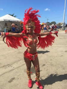 Dancing at Trinidad Carnival 2015