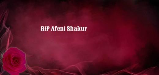 RIP Afeni Shakur 2016