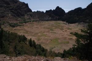 Dormant volcanic crater, Santo Antao